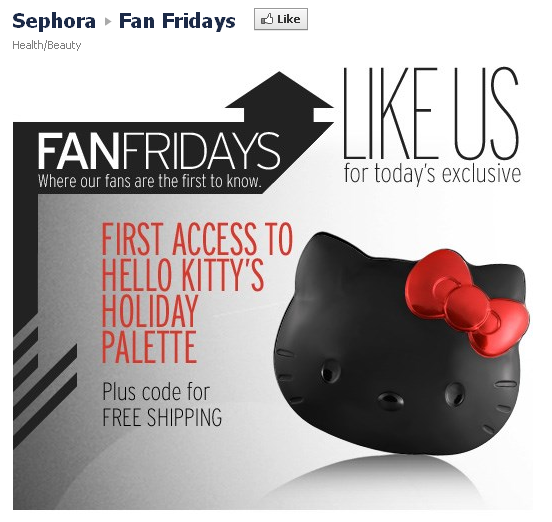 exclusive fan friday offer from Sephora