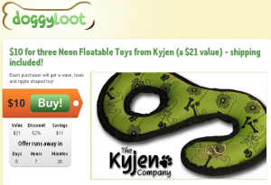sign up for doggyloot and earn $10 for referring friends