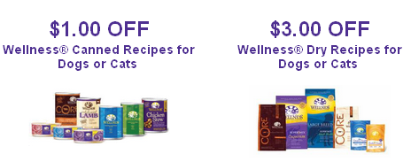 Printable wellness pet food coupons through January 2012