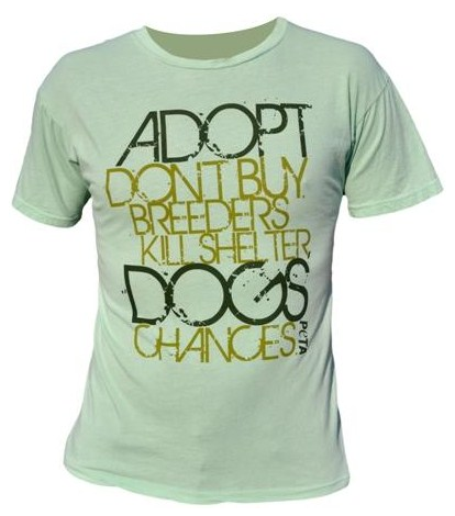 shelter dog peta tshirt on sale as seen on Amanda Seyfried
