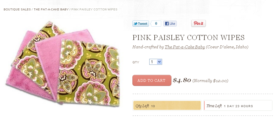cute reusable cotton baby wipes