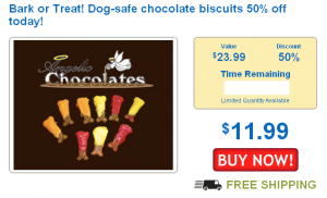 dog safe chocolate biscuits on sale