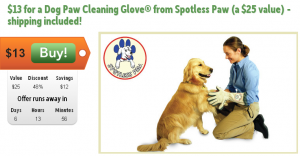 dog paw cleaning glove on sale