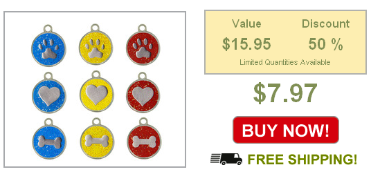 glitter dog tags on sale