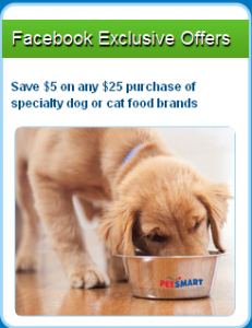 $5 off specialty dog or cat food at PetSmart
