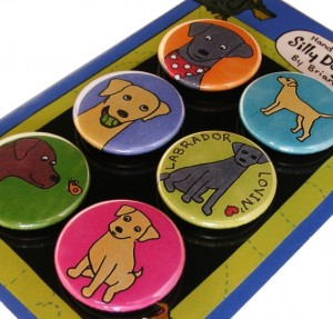 silly dog magnets on etsy