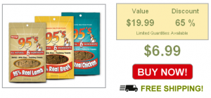 3 bags of dog treats on sale