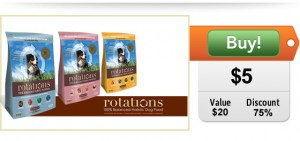 $5 for $20 worth of Rotations Dog Food