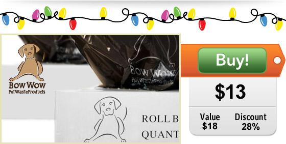 2 lbs of poop bags on sale!