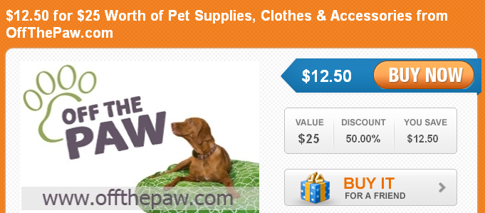 sign up for daily pet deals at coupaw.com