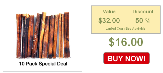 half off 10 pack of best bully sticks