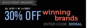 Wag.com black friday weekend sale