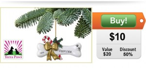 half off personalized christmas ornament for dogs