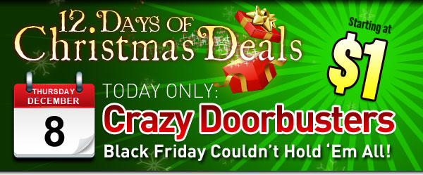 Crazy Black Friday Doorbuster Pet Deals from $1