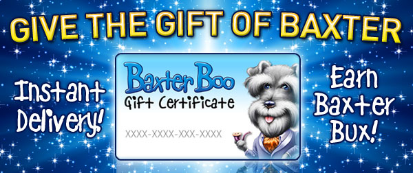 Instant Delivery on BaxterBoo Gift Certificates for Dog Lovers!