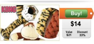 $14 for two KONG BraidZ Safari toys!