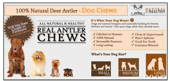 Natural Deer Antler Chews on Sale at PETching