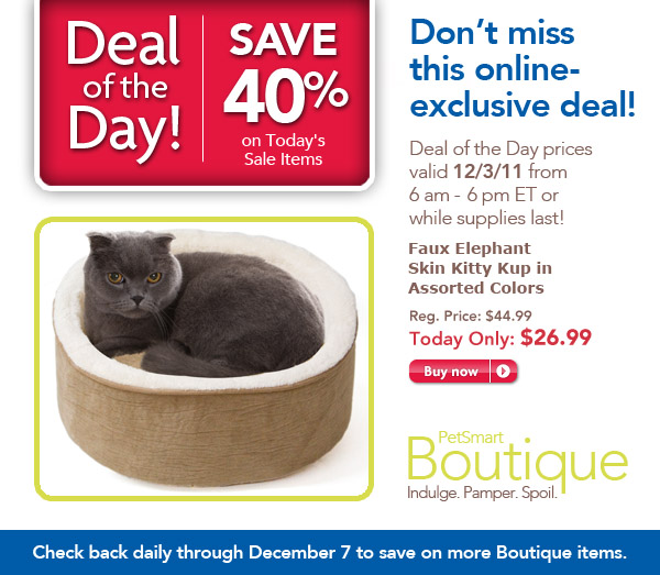 PetSmart Deal of the Day Cat Beds 40% Off
