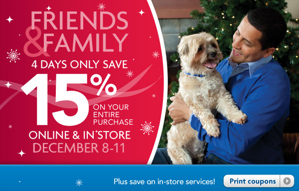 15% Off PetSmart Online and In-Store Printable Coupon