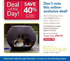 40% Off The Refined Canine indoor/outdoor Igloo Pet Bed