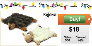 $18 for two large squeaker mats from Kyjen!