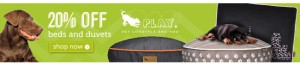 20% Off P.L.A.Y. Pet Beds and Furniture