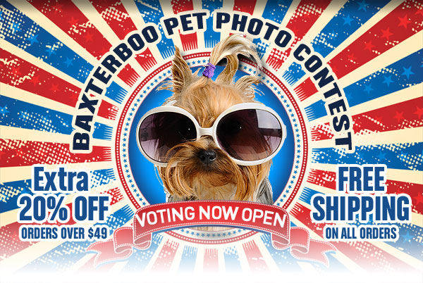 BaxterBoo Pet Photo Contest and 20% Off Deal