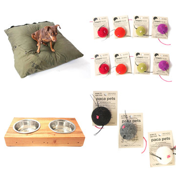 Sale on organic and handmade pet toys and products