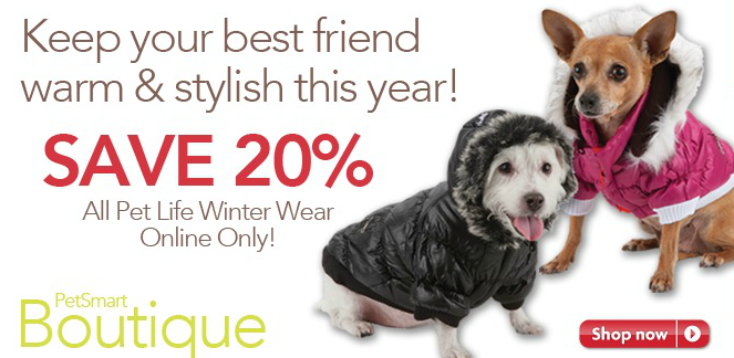 Petsmart Dog Coat Sale Save 20 On All Pet Life Winter Wear At The