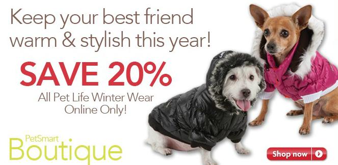 PetSmart winter dog coat sale