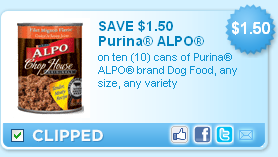 Printable ALPO Dog Food Coupon