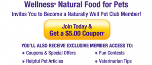 Wellness Pet Food Coupon offer on Facebook
