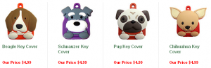 adorable dog key covers plus free shipping
