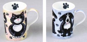 cute cat and dog mug sets