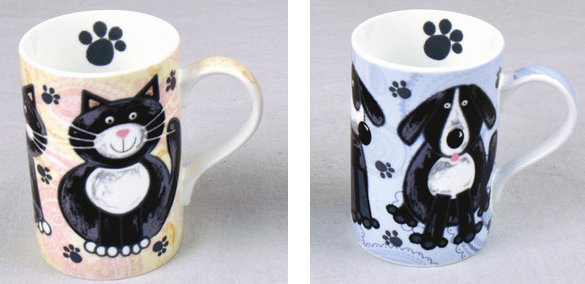 cute cat and dog mug sets