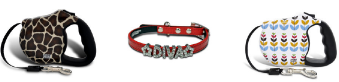 designer pet collars and leashes