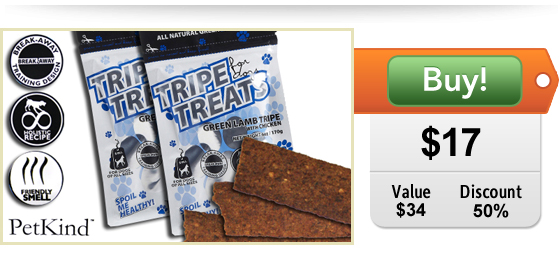 green lamb tripe treats for dogs