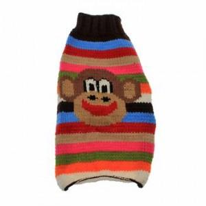 handmade wool funky monkey dog sweater