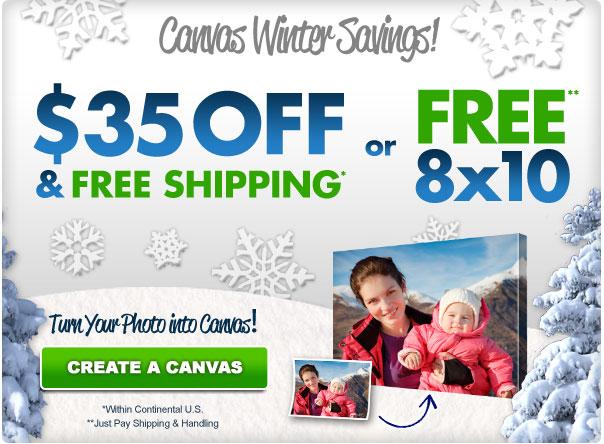 Free 8X10 Photo Canvas Print