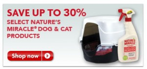 Nature's Miracle Products 30% Off Sale at PetSmart