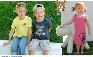 Lucky Puppy apparel for kids and moms who love dogs