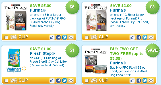 image relating to Fresh Step Coupon Printable named Printable Doggy Coupon codes Roundup: Purina $3 and $5 Off as well as
