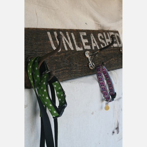unleashed wall hook board for leashes