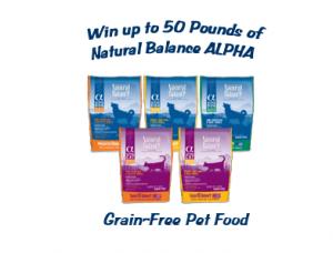 Natural Balance ALPHA Pet Food Giveaway