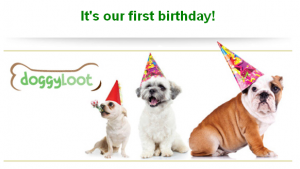 DoggyLoot 1st Birthday Gift to You