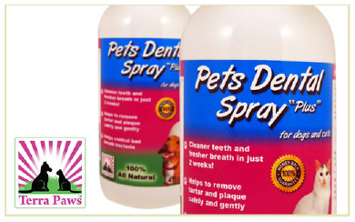 Terra Paws Dental Spray for cats and dogs