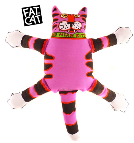 fat cat big mean kitty dog toy