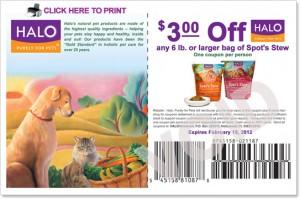 Halo printable pet food coupons