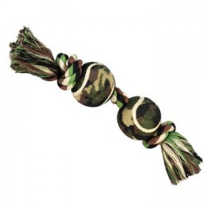grriggles camo rope-ball dog toy