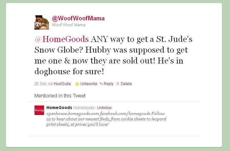 tweet about snow globe